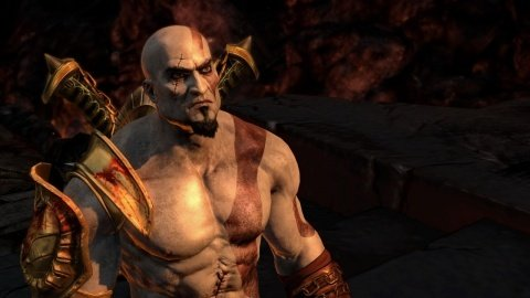 god of war 3 Kratos Closeup