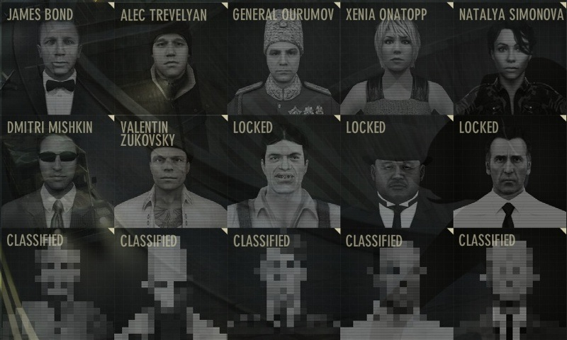 Goldeneye 007 wii Cast