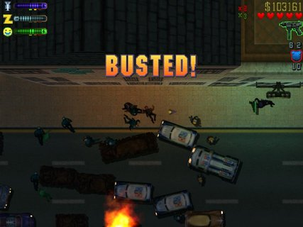 Grand Theft Auto 2 Busted Mayhem Cops