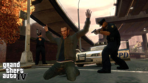 Grand Theft Auto 4 Niko Cops