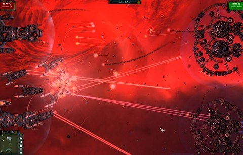 Gratuitous Space Battles Red Background