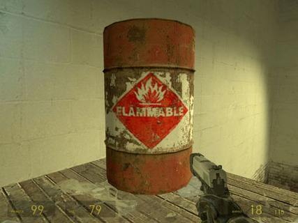 Half Life 2 Exploding Barrel Flammable
