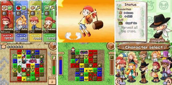 Harvest Moon Frantic Farming Character Select