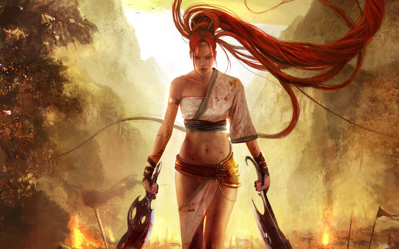 Heavenly Sword Nariko Art Twin Blades