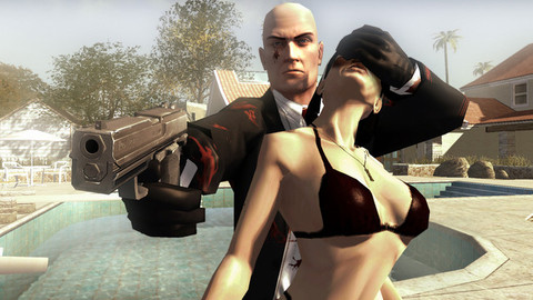Hitman Blood Money Gun Girl Bikini