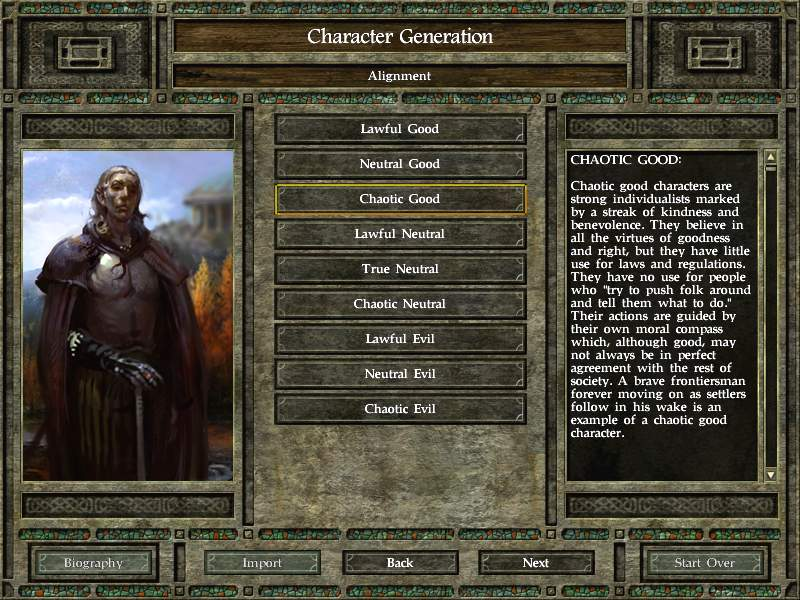 Icewind Dale 2 Character Generation