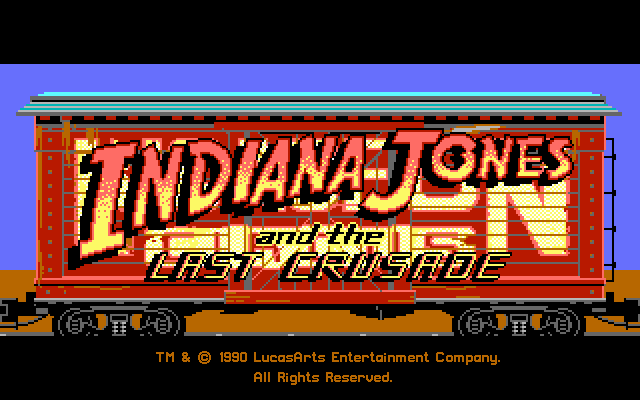 Indiana Jones and the Last Crusade Title Screen