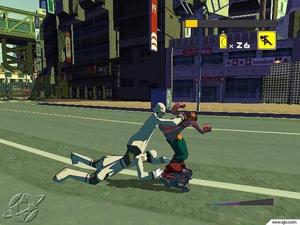 Jet Set Radio Future Police Grab On