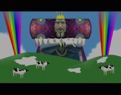 Katamari Damacy King Of All Cosmos Cows Rainbows