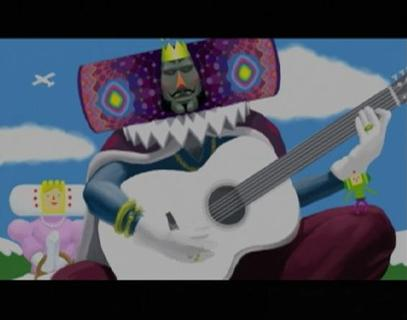 Katamari Damacy King Of All Cosmos Playing Guitar