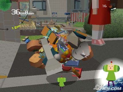 Katamari Damacy Rolling Up Ball Outside Little Girl