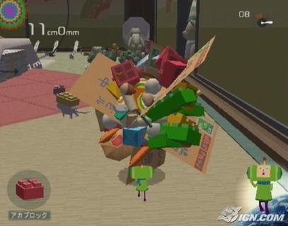 Katamari Damacy Rolling Up Household Junk