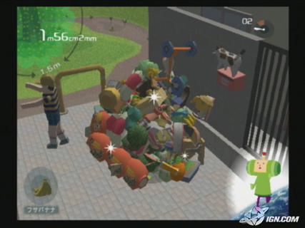 Katamari Damacy Rolling Up Humans