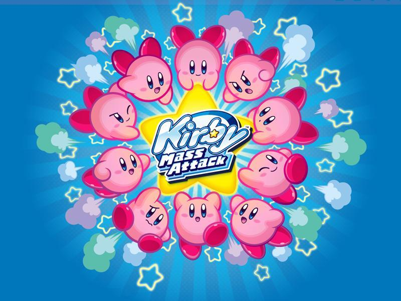Kirby Mass Attack Logo