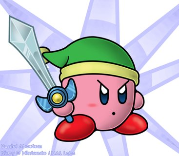 Kirby Super Star Art Daniel Absolom Sword