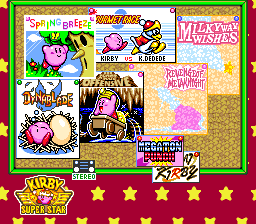 Kirby Super Star Game Selection
