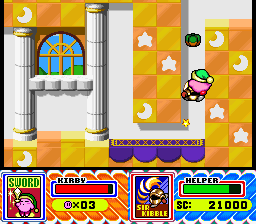 Kirby Super Star Helper Makeout Share Food