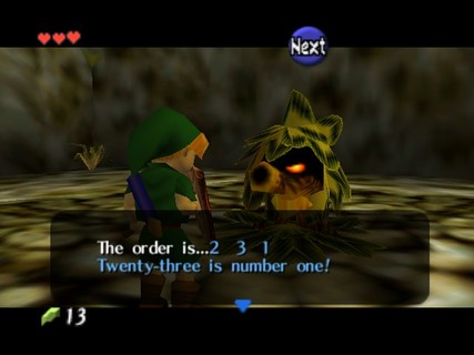 Legend Of Zelda Ocarina Of Time Link Deku Tree 23 Number 1