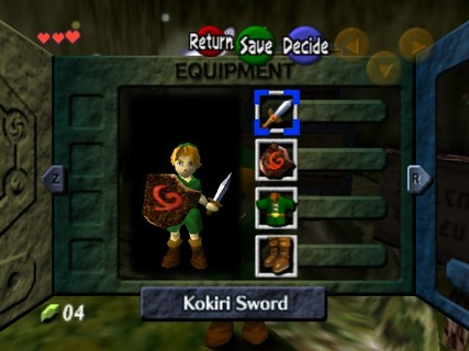 Legend Of Zelda Ocarina Of Time Link Equipped Sword Shield