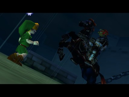 Legend Of Zelda Ocarina Of Time Link Ganon Hyrule Castle
