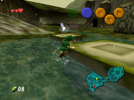 Legend Of Zelda Ocarina Of Time Link Kokiri Forest Swimming