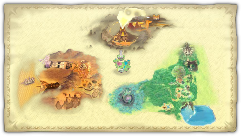 Legend of Zelda Skyward Sword map