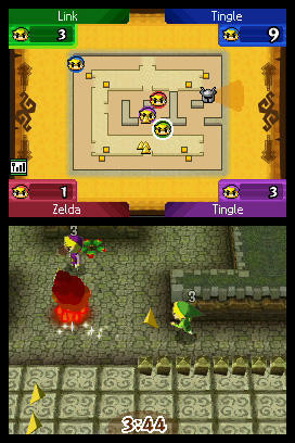Legend Of Zelda Spirit Tracks Multi Player Green Purple