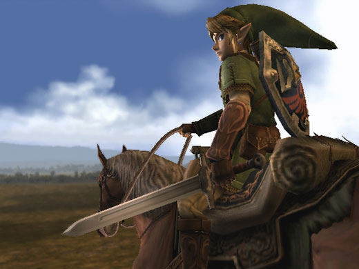 Legend of Zelda Link Epona Master Sword