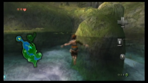 Legend of Zelda Link Water Walking