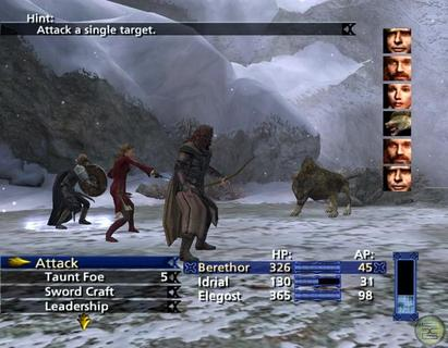 Lord Of The Rings Third Age Battle Screen