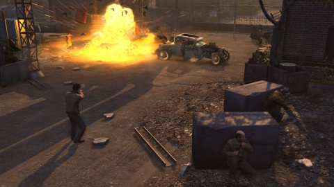 Mafia 2 Shoot out car Explosion