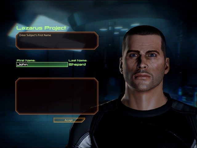 Mass Effect 2 Male Shepard Lazarus Project Character Creation