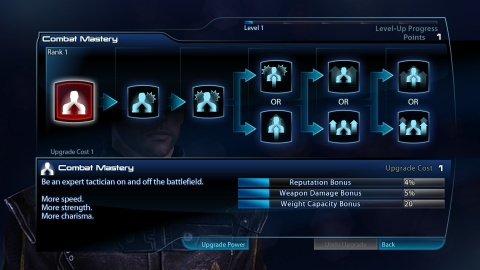 Mass Effect 3 Shepard Level up Combat Mastery