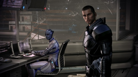 Mass Effect 3 Shepard Liara Flirting