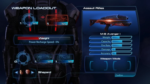 Mass Effect 3 Weapon Loadout Avenger