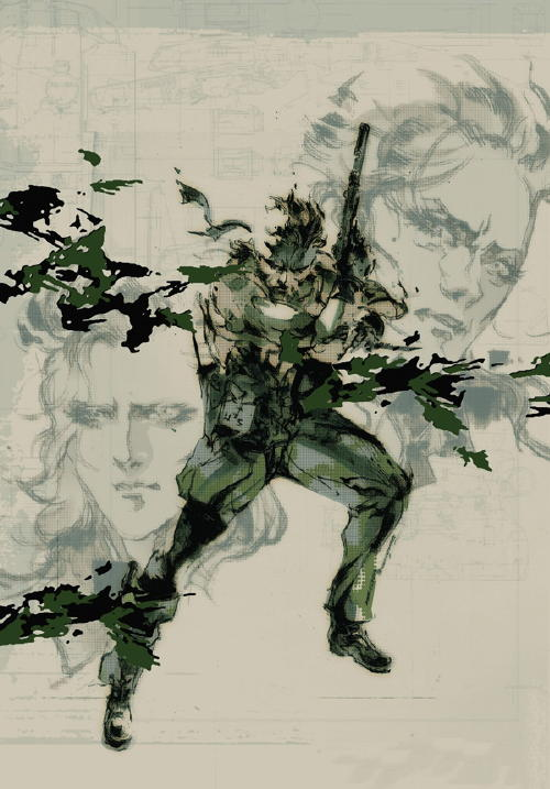 Metal Gear Solid 3 Art Snake Eva Boss