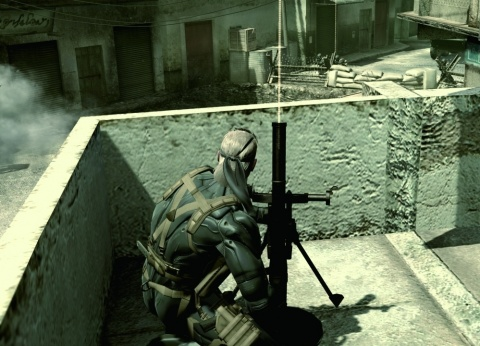 Metal Gear Solid 4 Snake Fires a Mortar