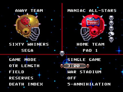 Mutant League Football Maniac All Stars Sixty Whiners