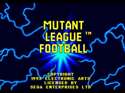 Mutant League Football Title Screen