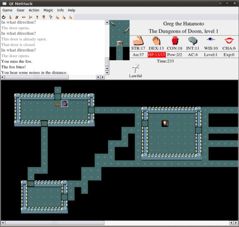 Nethack Qt Interface