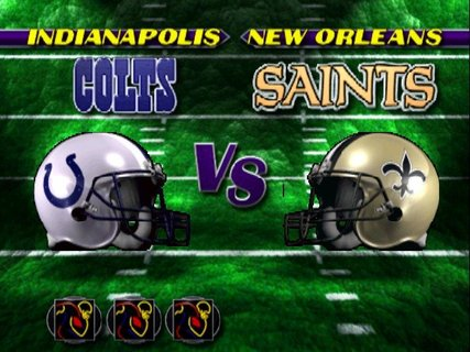 Nfl Blitz Super Bowl Match Up Colts Saints