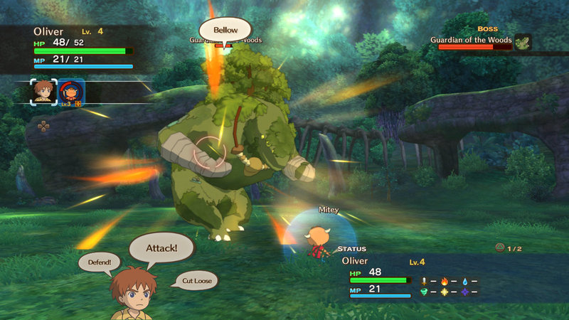 ni no Kuni Battle Boss Guardian of the Woods