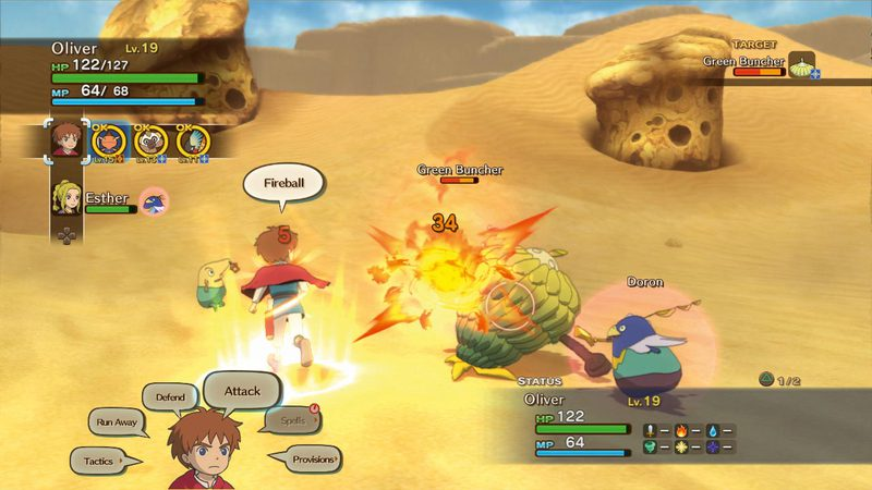 ni no Kuni Battle Green Buncher Doron