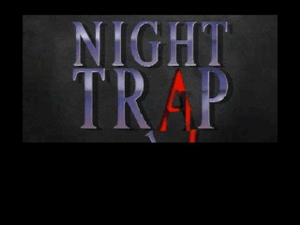 Night Trap Logo Blood Red