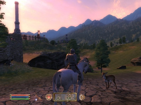 Oblivion Deer Hunting on Horse