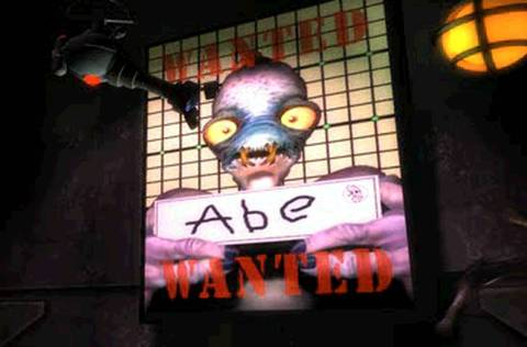 Oddworld Abes Oddysee Wanted Poster