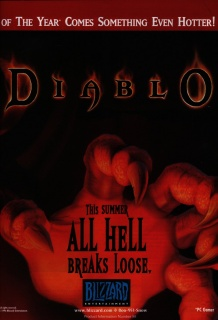pc Gamer June 1996 Diablo ad
