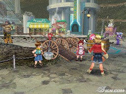 Phantasy Star Zero Town Square