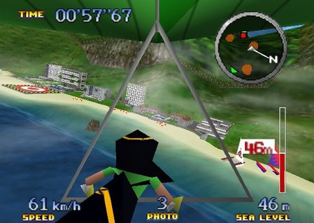 Pilotwings 64 Hang Glider Ibis Closeup