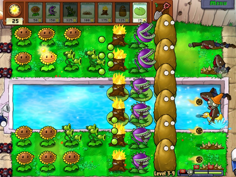 Plants vs Zombies 01 Pool Battle